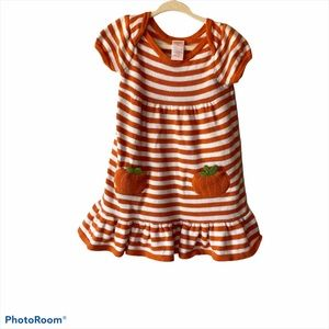 Gymboree Orange Pumpkin Sweater Dress 2T